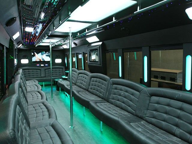 40 Pass Party Bus Interior