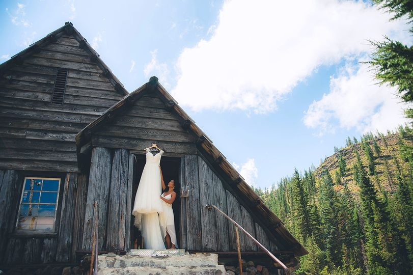 Bride on a mountain