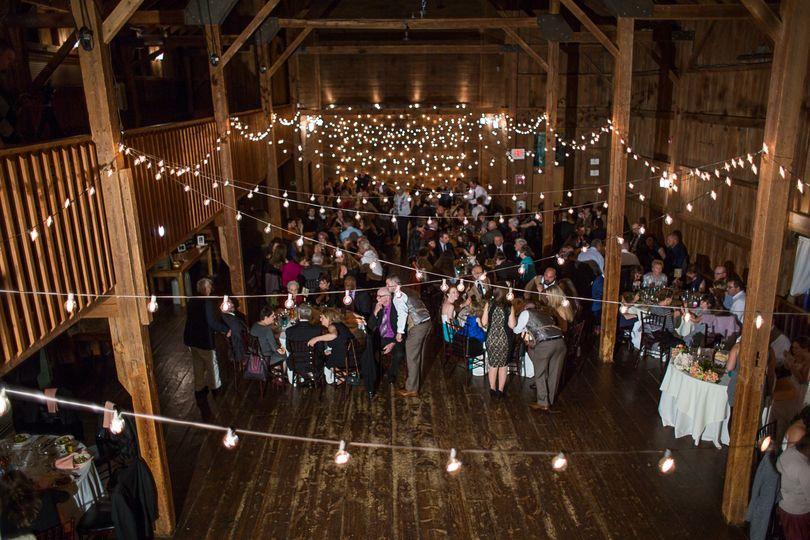 lights cafe globe patio barns connecticut wedding