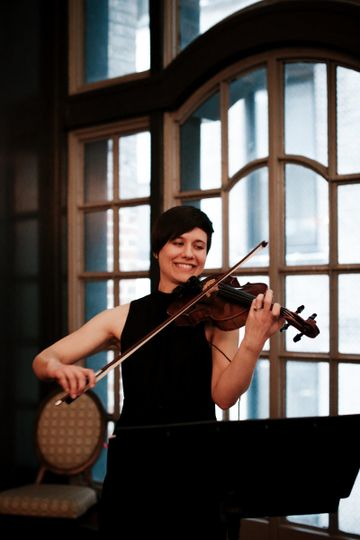 Fretless Solo Violin at Chicago Athletic Association | Photography by Anna Zajac