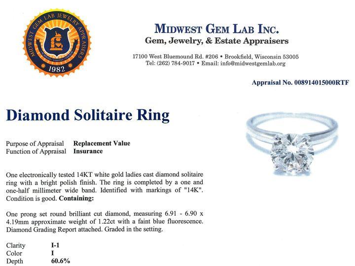 Tmx 1461964593016 008914015000diamond.solitaire.ring.appraisal.white Brookfield wedding jewelry