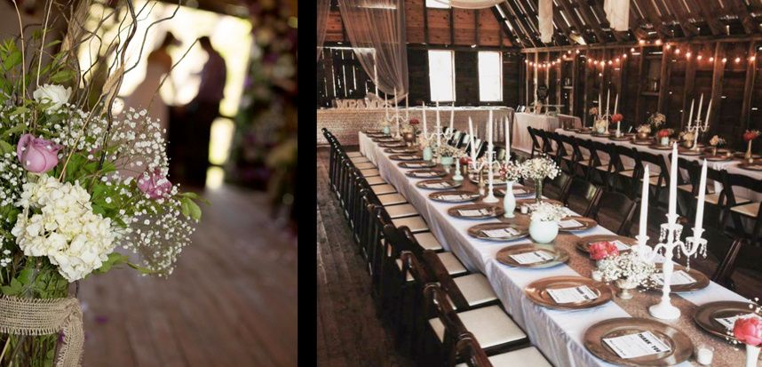 Barn decorations and tables