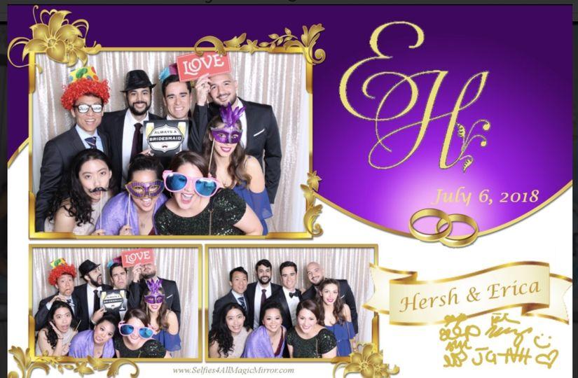 Wedding photo booth selfies