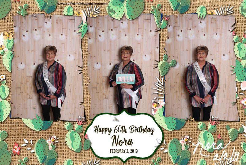 60th birthday photo booth