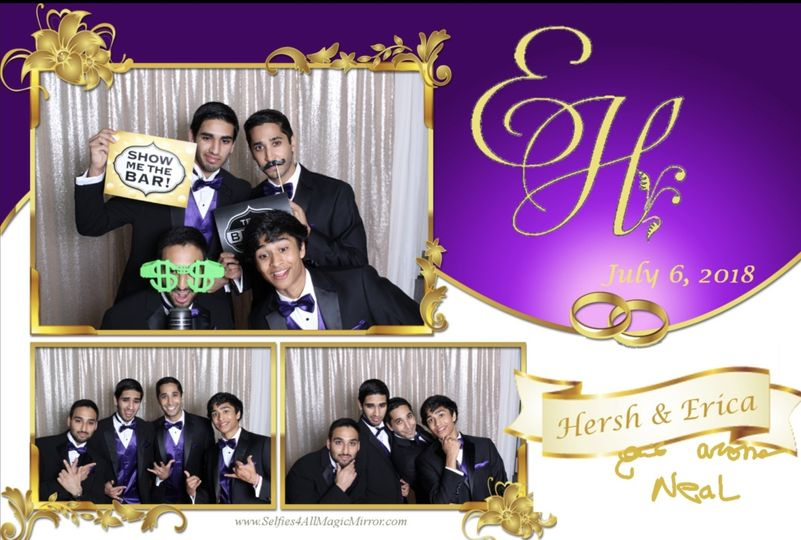 Customized photo booth images