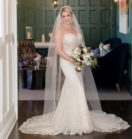 Our beautiful bride at Natirar