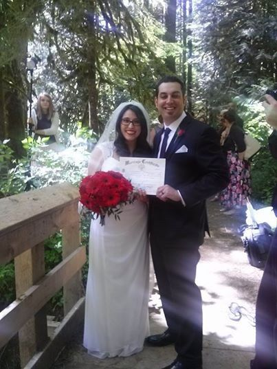 A wedding in the Mt. Hood National Forest.