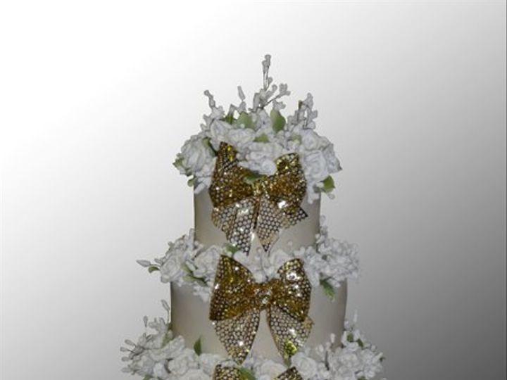 Tmx 1316386185372 Fourgoldbows Brooklyn wedding cake