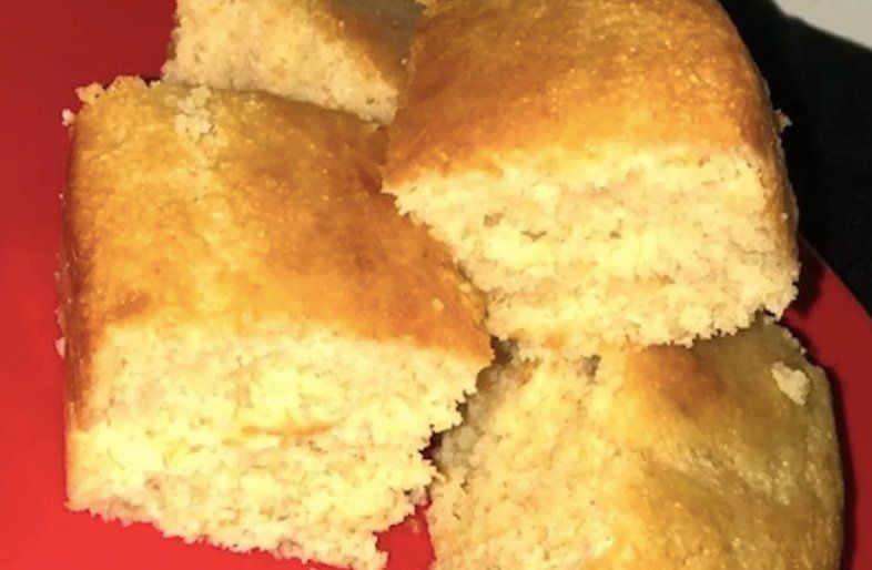 Corn bread appetizer