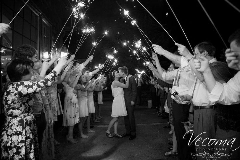 Sparkler celebration