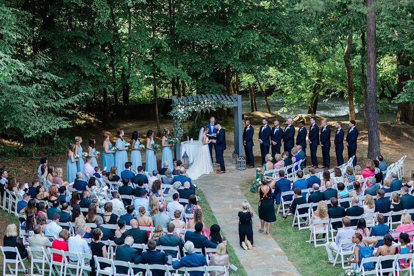 Beautiful riverside ceremony