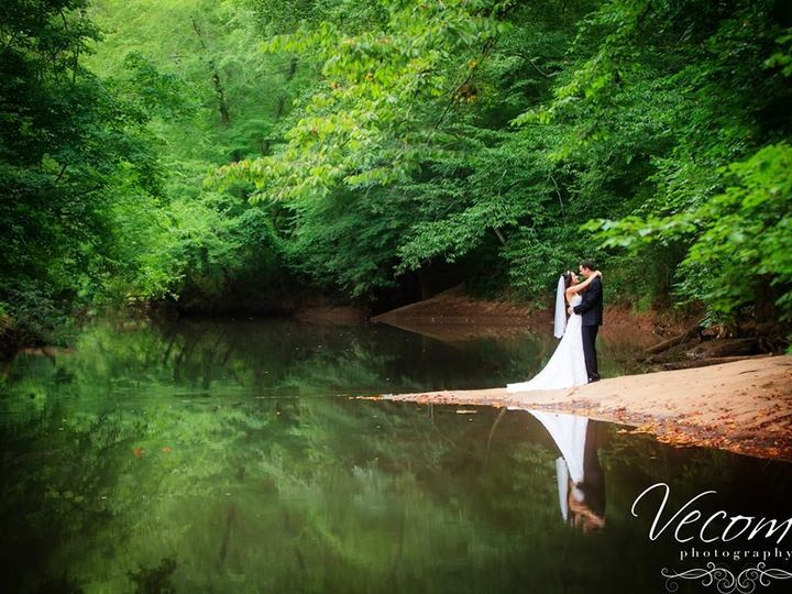 Tmx 1416667721454 Bride And Groom Embrace On River Snellville, GA wedding venue