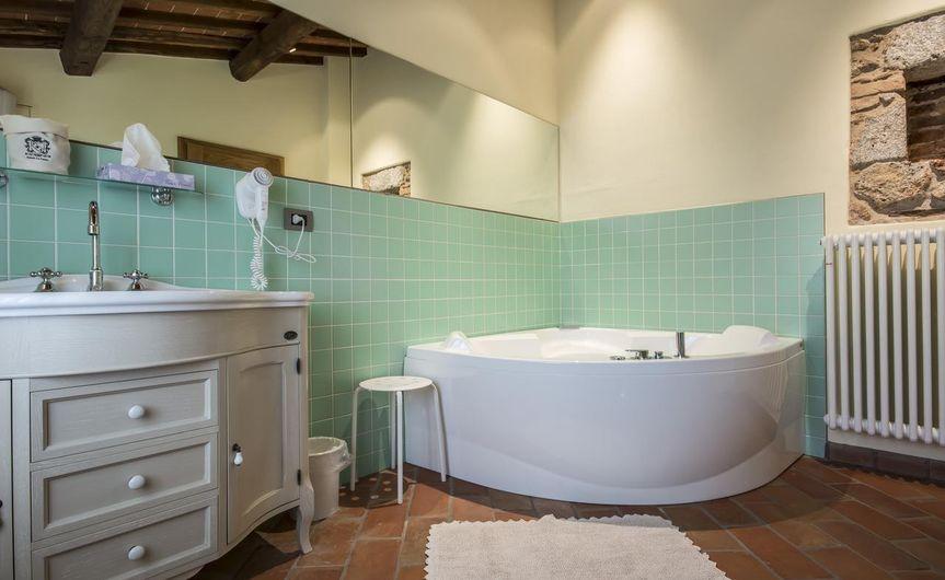 Bathroom with numerous amenities