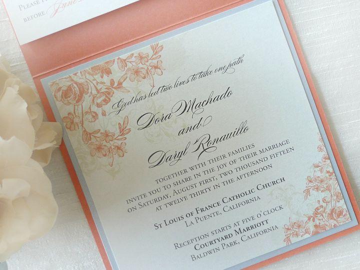Tmx 1426807391542 Jessicacoral2 Temple City wedding invitation