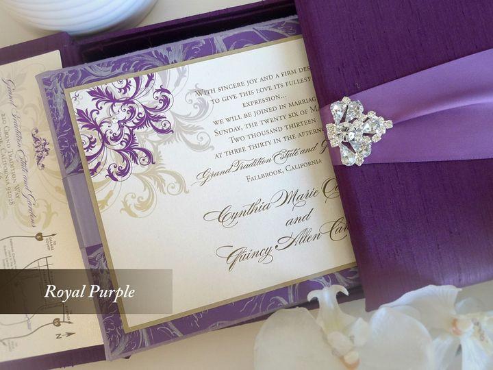 Tmx 1428186280733 Royalpurple1 Temple City wedding invitation