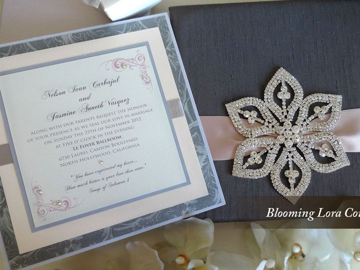 Tmx 1428186375662 Bloominglora1 Temple City wedding invitation