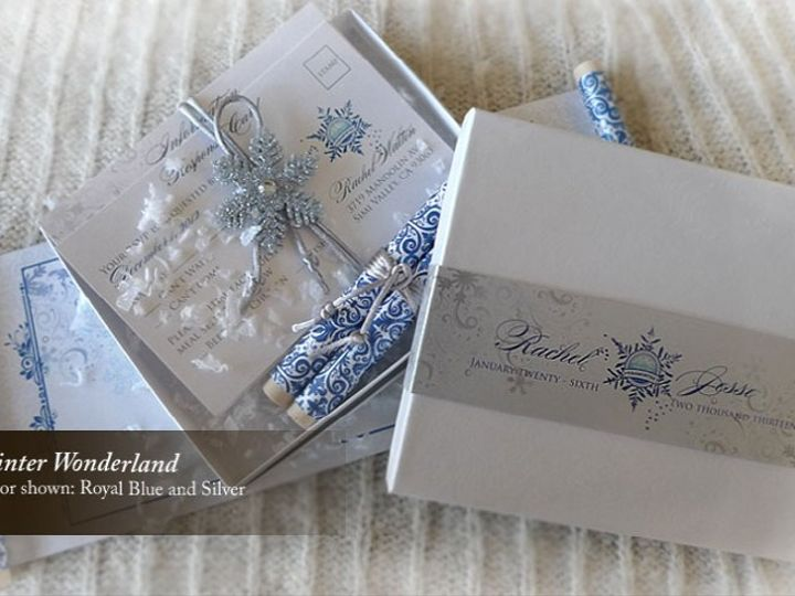 Tmx 1428192188948 Winterwonderland2 Temple City wedding invitation