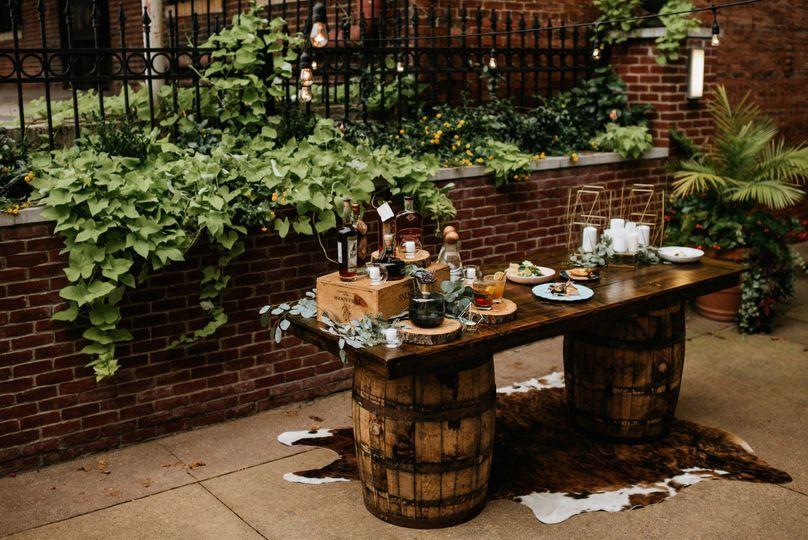 Bourbon Barrel Bar