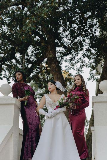 Bride/Bridesmaids glam