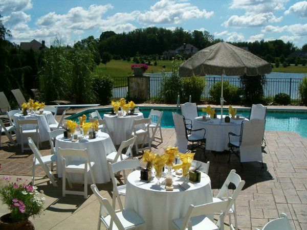 Outdoor reception/Pool Party
