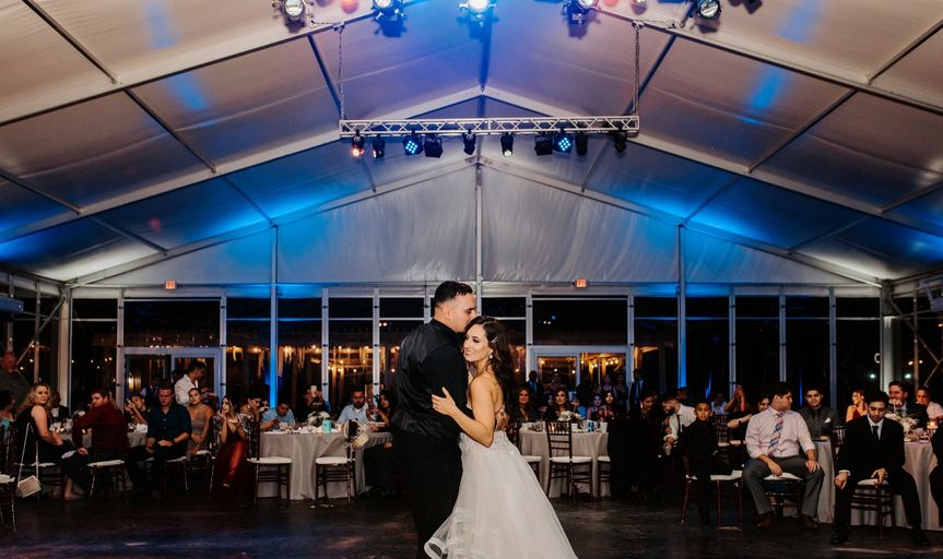 The first dance as newlyweds