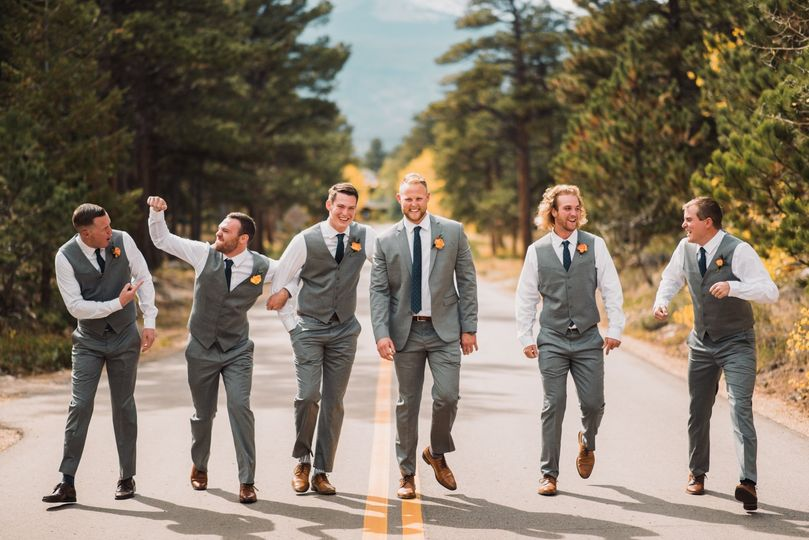 Groom and his party