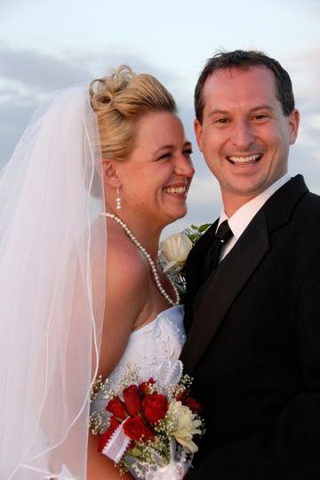Bride with her groom