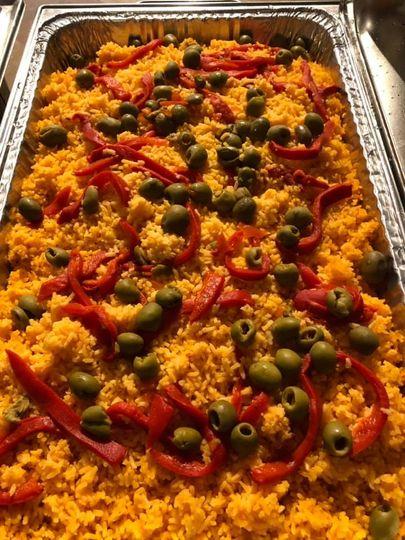 Yellow seasoned rice