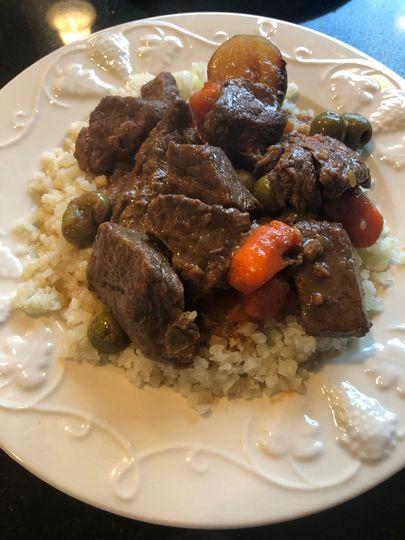 "Cuban ""carne guisada"" stew"