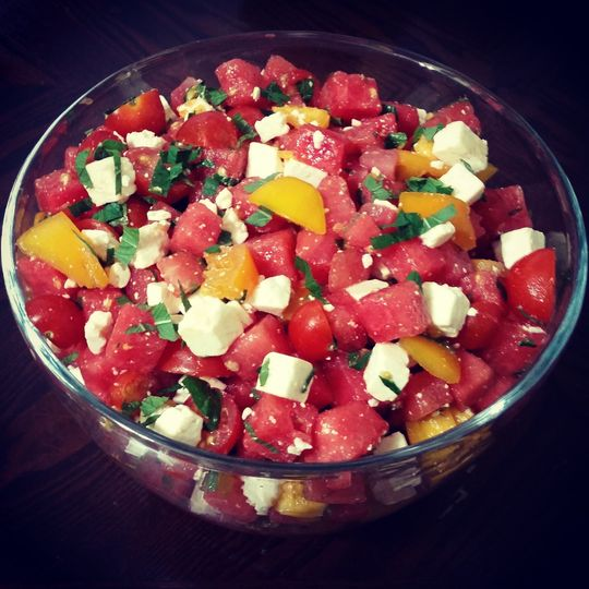 Tomatoes and feta cheese