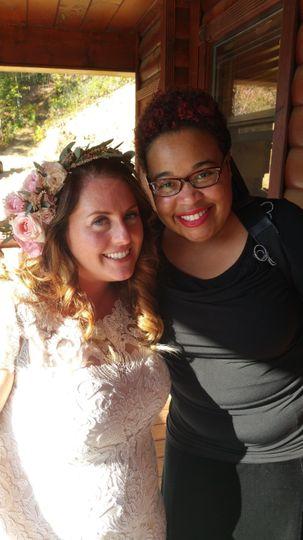 Robyn with bride, Trina