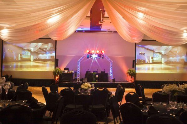 Draping and other decor adds to the ambience of a recent event at the new Cherokee Conference...