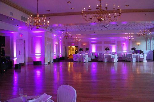 Reception uplighting and dance floor