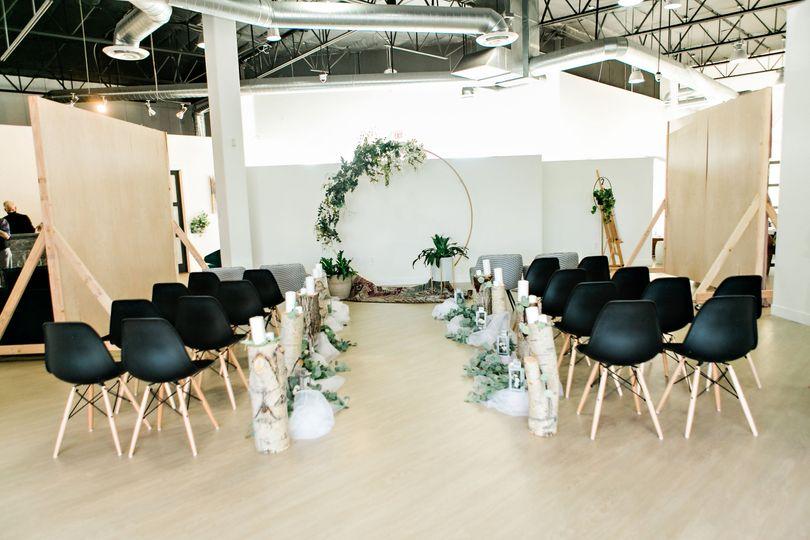 Elegant ceremony area