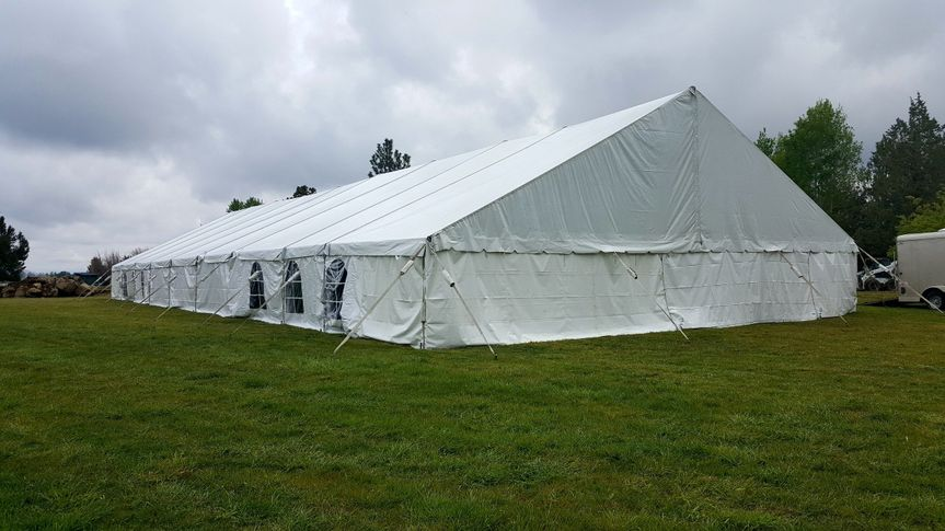 Closed tent setup