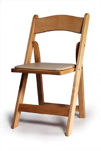 natural wood chair with pad