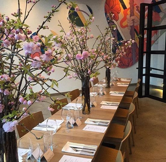 The private dining room at Momofuku CCDC