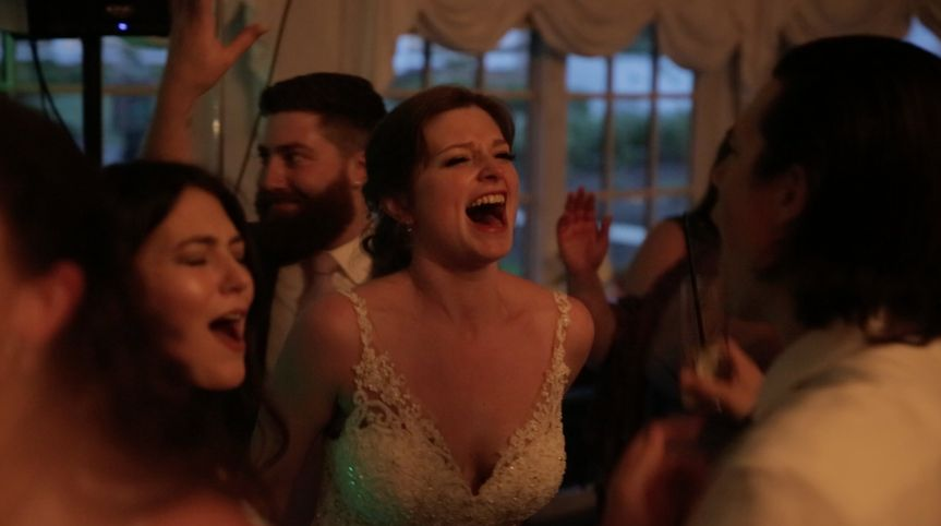 Bride enjoying the celebrations