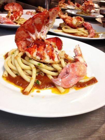 wine dinner lobster
