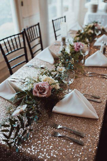 Indoor Reception Table Setup