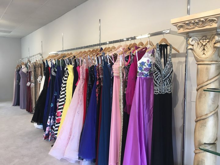 Beautiful prom gowns at Blush Bridal & Prom.