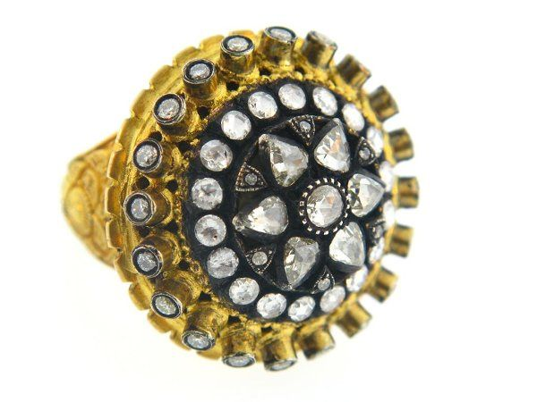 diamonds and 22k gold engagement ring