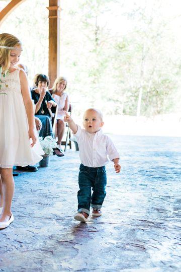 Sweet little man - beautiful floor