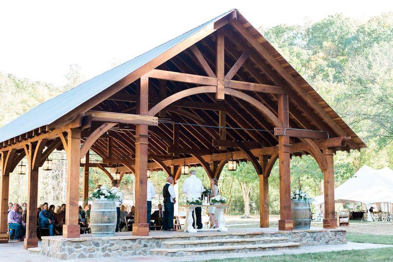 Venue with wedding guests