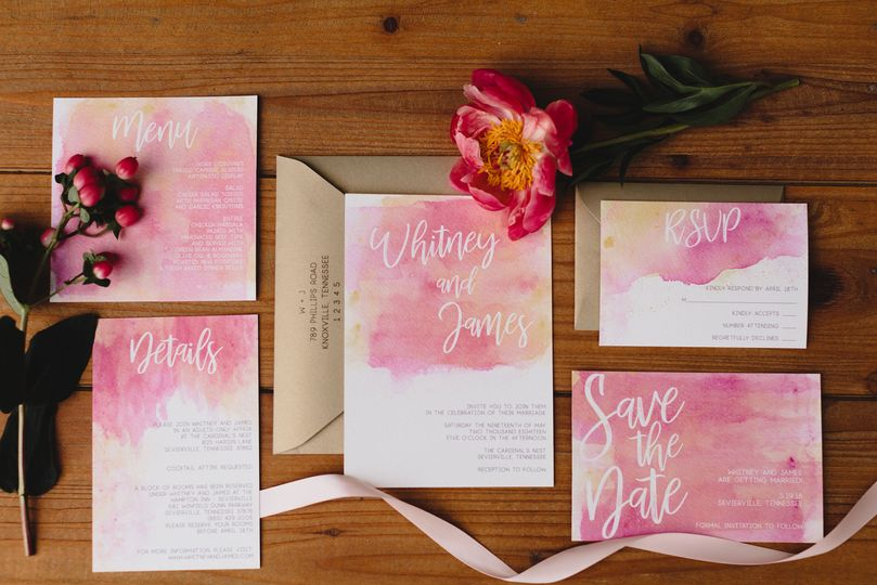 Wedding Invitation Suite provided by Custom Love Gifts