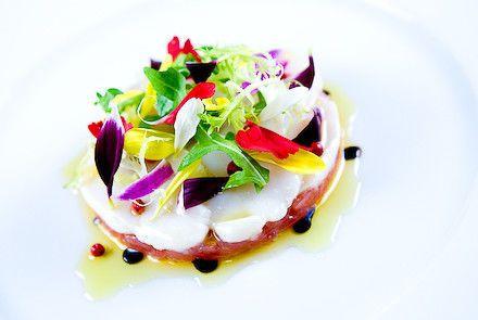 fdc4230d6d439105 1499366212503 tuna tartare scallop crudo with spring salad 6
