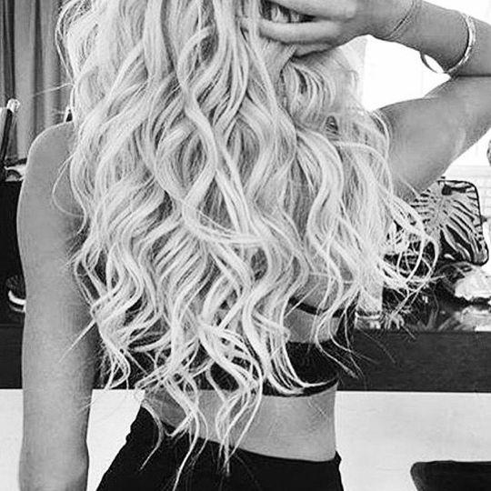 Med length hair