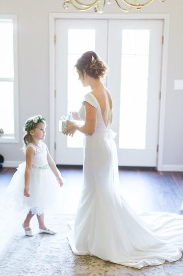 Bride and a girl