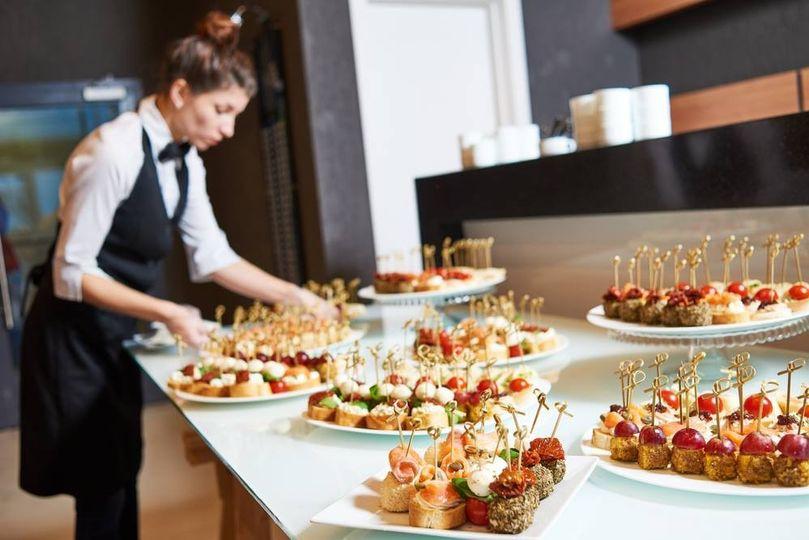 Reception food preparations