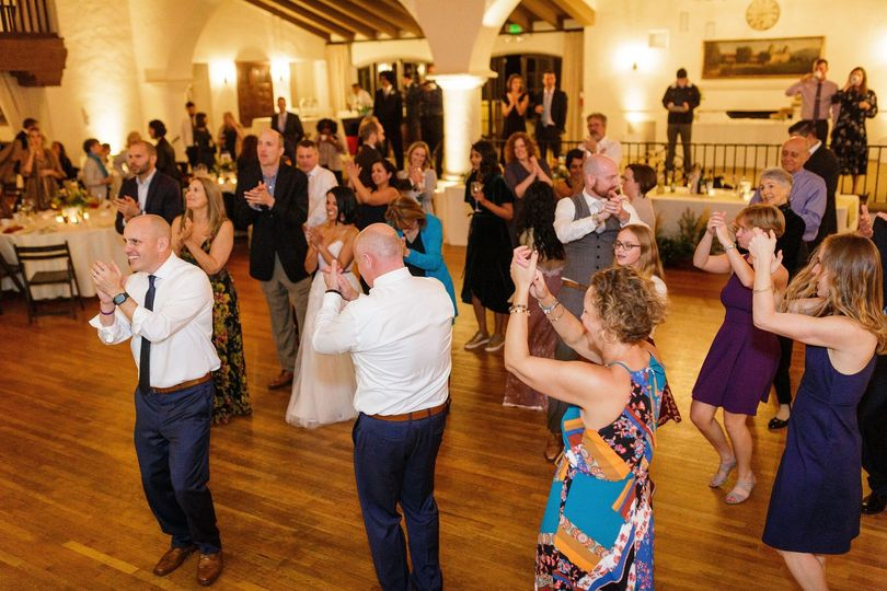 Guests on their feet